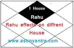 राहु का विभिन्न भाव में फल | Rahu Effects on Different Houses