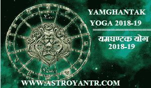 Yamghantak Yoga Date and Time 2018-19 | यमघण्टक योग