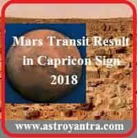मंगल का मकर में गोचर फल 2018 | Mars Transit Capricorn 2018.